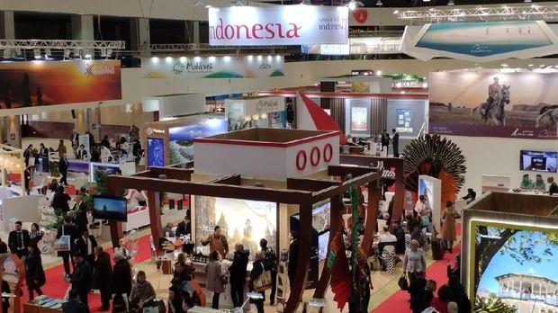 Paviliun Indonesia di 26th Moscow International Travel & Tourism Exhibition (MITT) di Moskow yang berlangsung tanggal 12-14 Maret 2019.