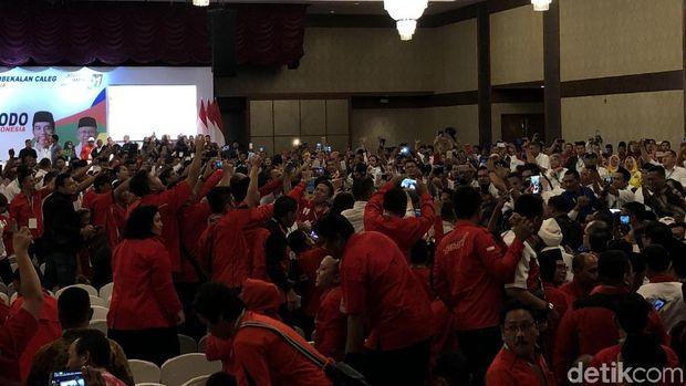 Joko Widodo (Jokowi) menghadiri kegiatan kampanye di Medan, Sumatera Utara.
