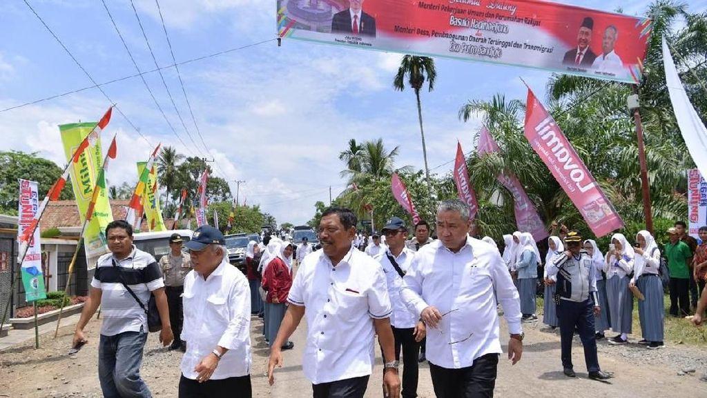 Kemendes-PUPR Keroyok Pembangunan Infrastruktur di Bengkulu