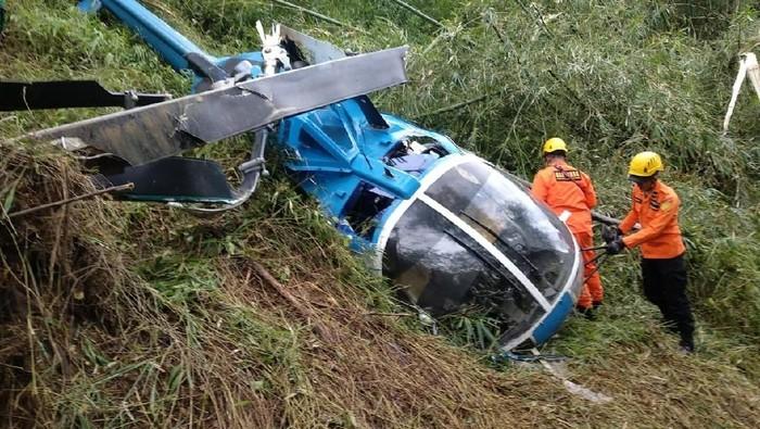 Helikopter jatuh di Tasikmalaya/Foto: Dok. Basarnas