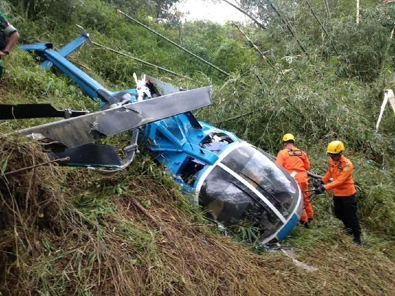 Helikopter Jatuh di Tasikmalaya, Pilot Berniat Mendarat Darurat
