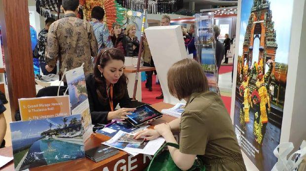 Pelaku industri pariwisata Indonesia tawarkan paket-paket wisata Indonesia di 26th Moscow International Travel & Tourism Exhibition (MITT) di Moskow yang berlangsung tanggal 12-14 Maret 2019.