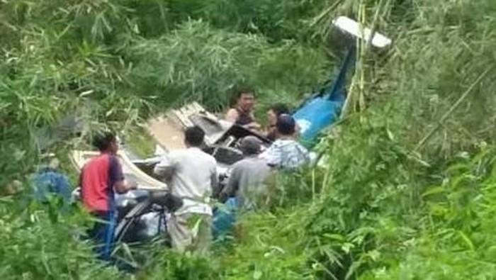 Helikopter jatuh di Tasikmalaya. (Foto: Dok. Basarnas)