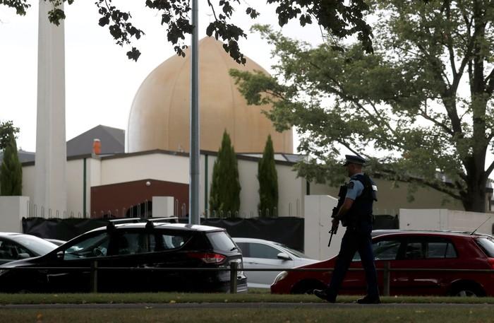 Masjid Al Noor di Christchurch, Selandia Baru (REUTERS/Jorge Silva)