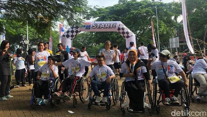 Equal Fun Run 2019 tingkatkan kepercayaan diri teman-teman penyandang disabilitas. Foto: Ayunda Septiani/detikHealth