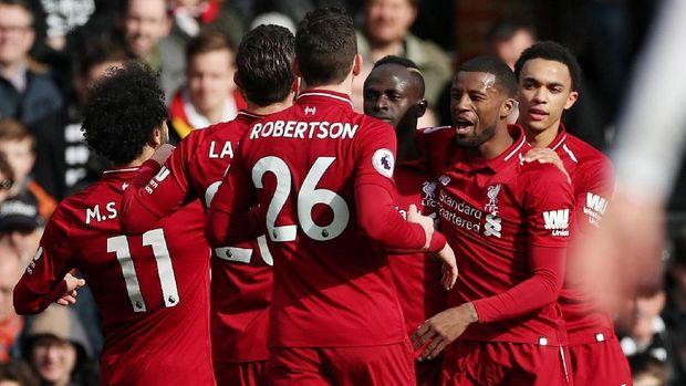 The Reds kalahkan tuan rumah Fulham 2-1. (