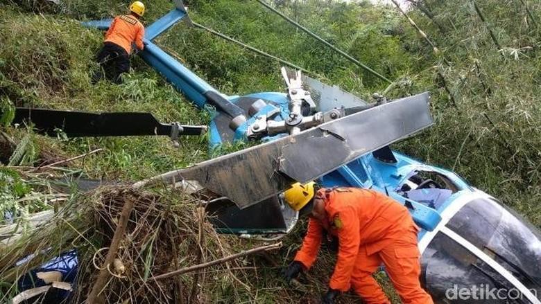 KNKT Evakuasi Kotak Hitam Helikopter Jatuh di Tasikmalaya