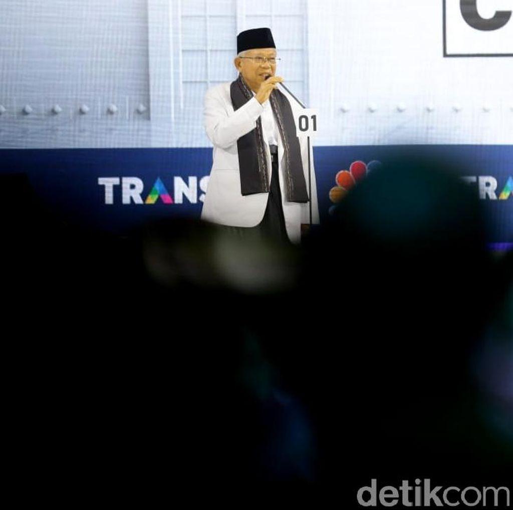 Misi Maruf Amin Cegah Pendukung Masuk Angin