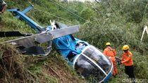 Petani Relakan Sawah Rusak Demi Evakuasi Helikopter Jatuh
