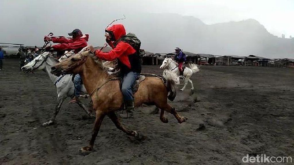 Sepi Job, Ojek Kuda Adu Balapan di Gunung Bromo