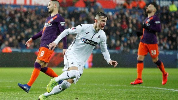 Gol Kontroversial Aguero Bawa Man City ke Semifinal Piala FA