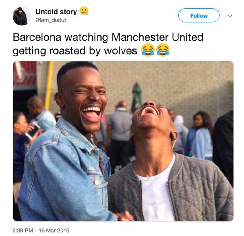 Barcelona pun tertawa melihat MU dipermalukan Wolves. Barcelona menjadi lawan MU di perempatfinal Liga Champions. Foto: istimewa