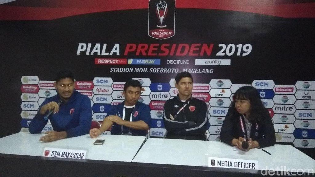 Nol Kemenangan di Piala Presiden, PSM: Fokus Kami di Piala AFC
