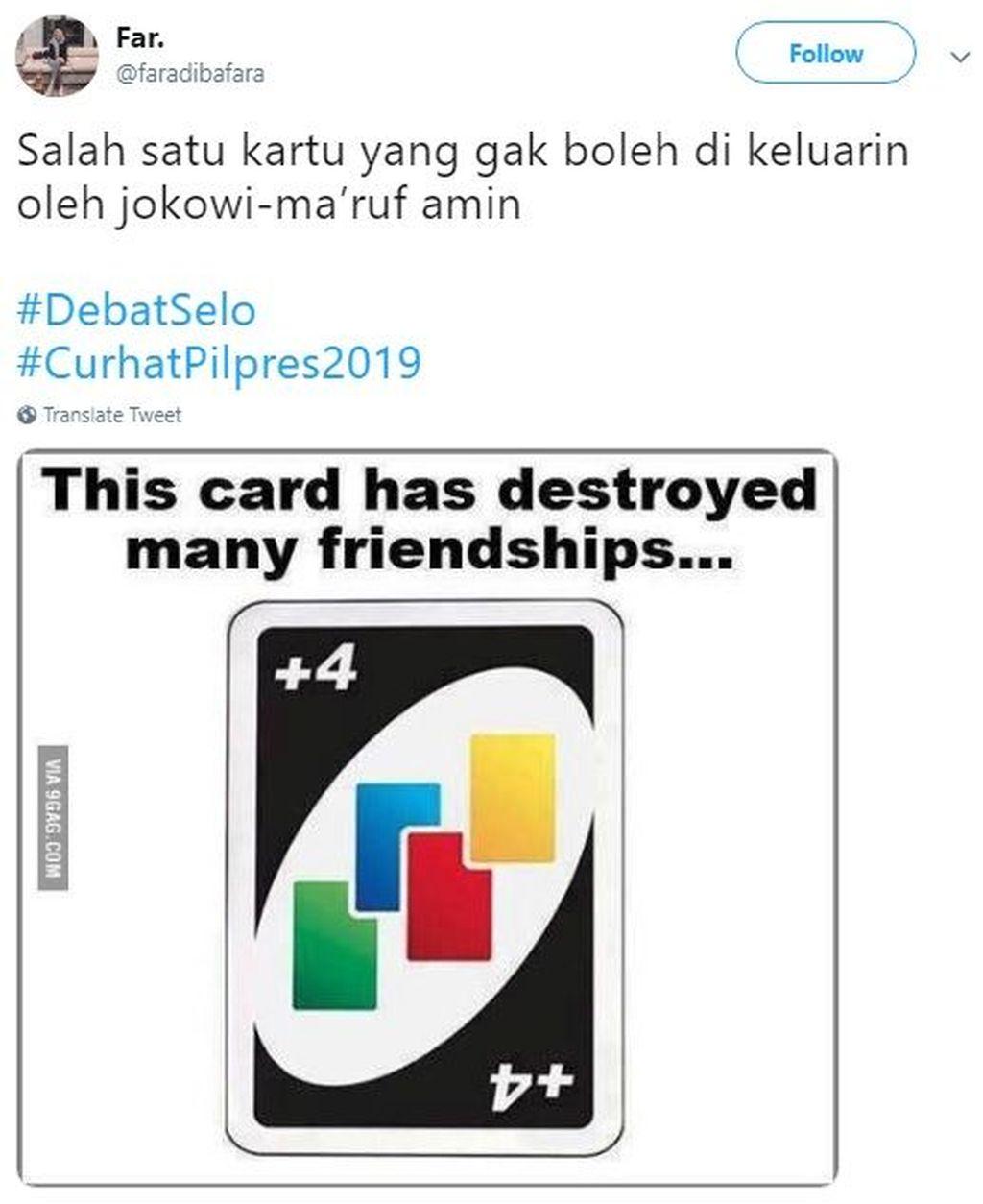 Ada yang bilang jangan sampai Maruf keluarkan kartu yang bisa memecah belah persahabatan ini dalam game UNO. Foto: Istimewa