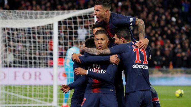 Kylian Mbappe hanya mencetak satu gol pada laga lawan Marseille.