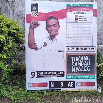 Tukang sampah Dwi Hariyadi yang jadi caleg di Malang