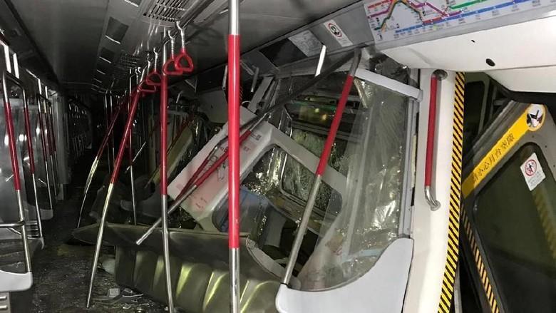 2 Kereta MTR Hong Kong Tabrakan Saat Uji Coba Sistem Sinyal Baru