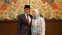 5 Gaya Mpok Nur, Istri Sandiaga di Debat Pilpres: Blazer hingga Jaket Bomber