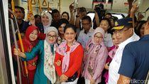 Didampingi Menhub, Iriana Jokowi dan Mufidah Kalla Jajal MRT Jakarta