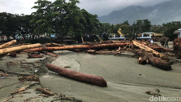 Sisa-sisa banjir bandang Sentani. (Wilpret Siagian/detikcom)