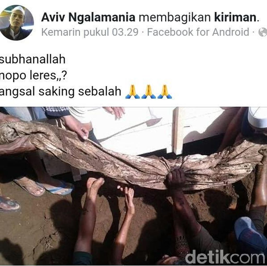 Viral! Jasad Kiai yang Sudah Terkubur 31 Tahun Masih Utuh