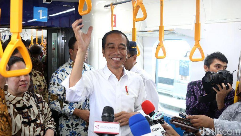 Semringah Jajal MRT, Jokowi: Mantul!