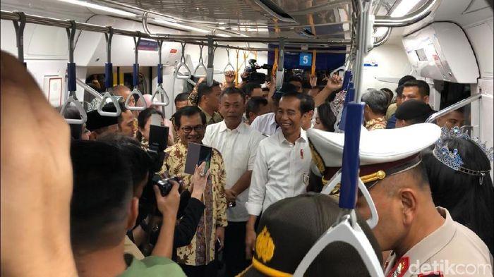 Jokowi Jajal MRT Jakarta/Foto: Ray Jordan/detikcom
