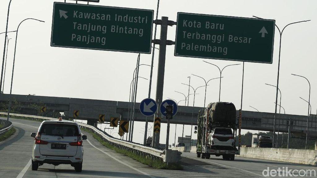 Lampung-Palembang Lewat Tol Dibuka Satu Arah saat Mudik