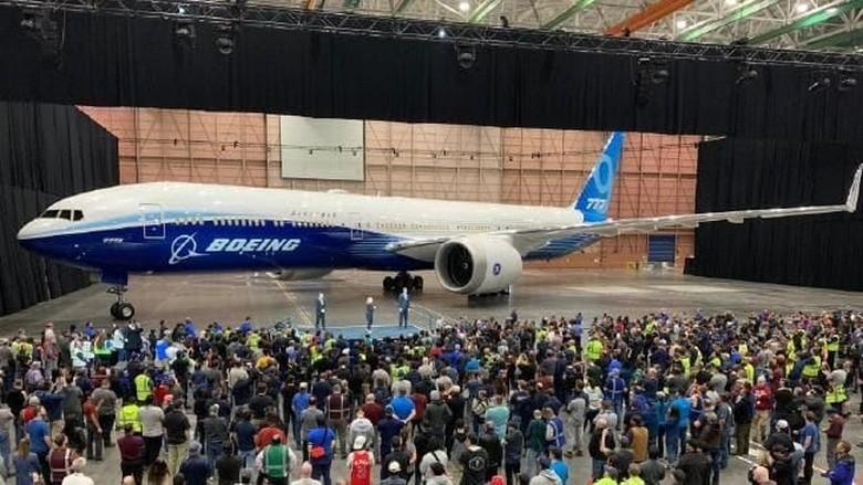 Peluncuran pesawat Boeing 777X (Twitter)