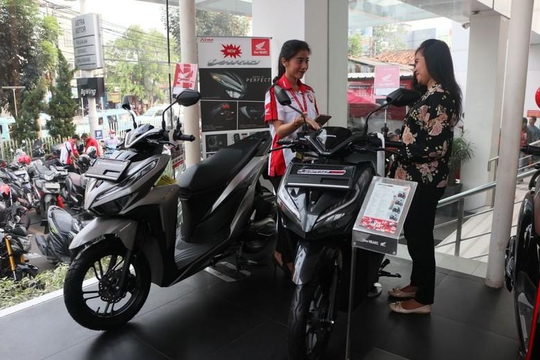 Penjualan motor. Foto: Dok. AHM
