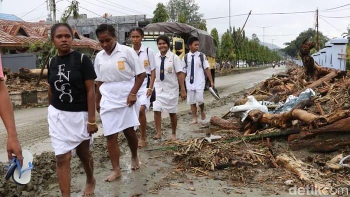 Banjir bandang di Sentani, Jayapura, Papua. (Dok BNPB)
