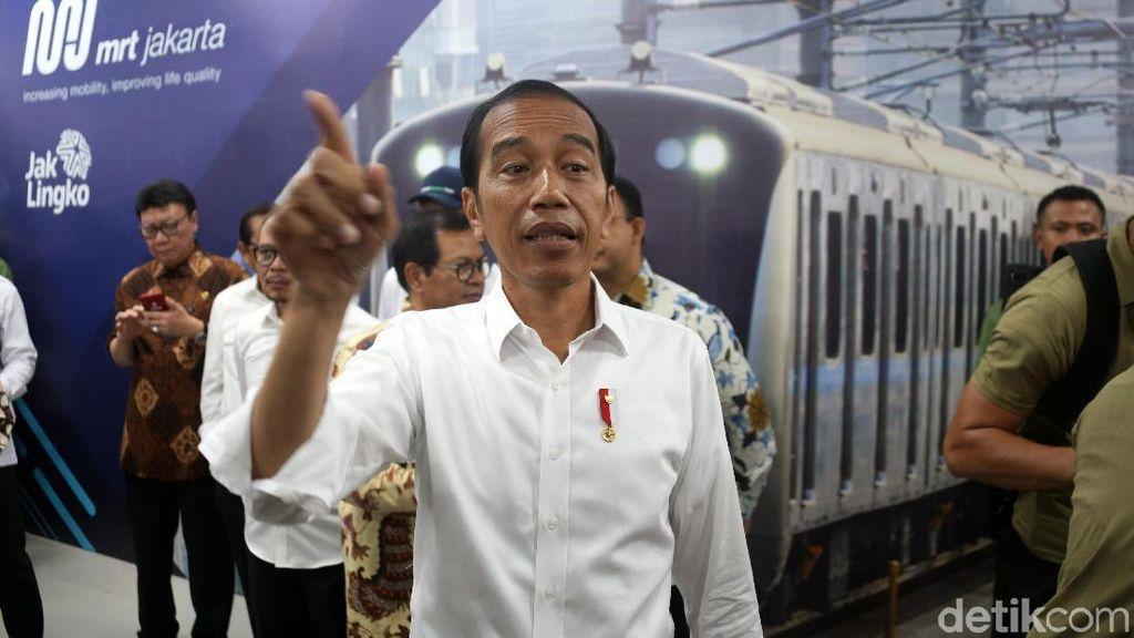 Jokowi Resmikan MRT dan Groundbreaking Fase II saat Car Free Day