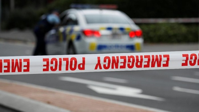 A police line is seen outside Masjid Al Noor in Christchurch, New Zealand, March 16, 2019. REUTERS/Jorge Silva