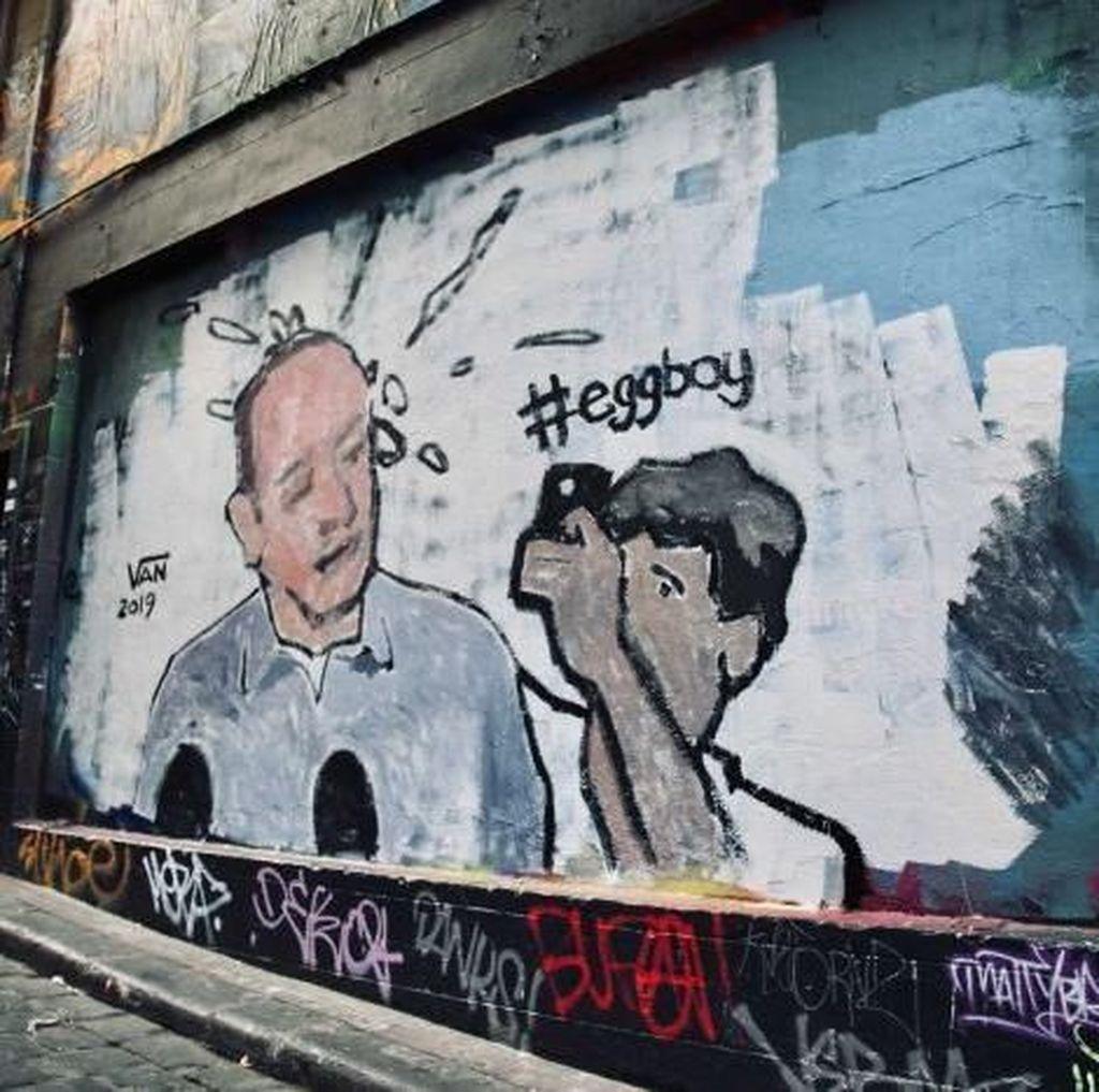 Keren! Mural Egg Boy Hiasi Dinding di Melbourne