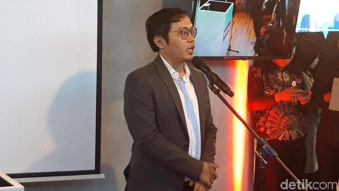 Achmad Zaky menegaskan tak ada data penting Bukalapak yang dicuri hacker. (Foto: Hilda Meilisa Rinanda/detikINET)
