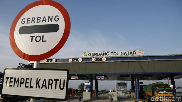 Gerbang Tol Natar, yang diresmikan Presiden Joko Widodo beberapa hari lalu