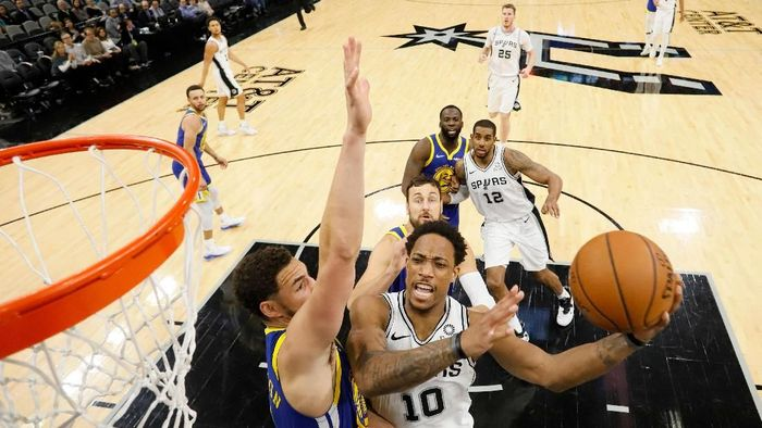 San Antonio Spurs kalahkan Golden State Warriors (Soobum Im-USA TODAY Sports)