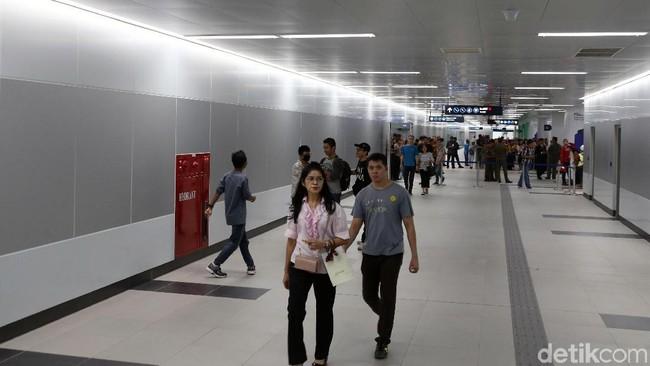 Suasana stasiun MRT Jakarta/Foto: Rengga Sancaya