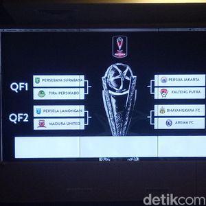 Ini Hasil Drawing Babak Delapan Besar Piala Presiden 2019