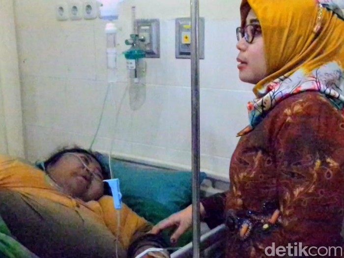 Pasien obesitas di Lamongan/Foto: Eko Sudjarwo
