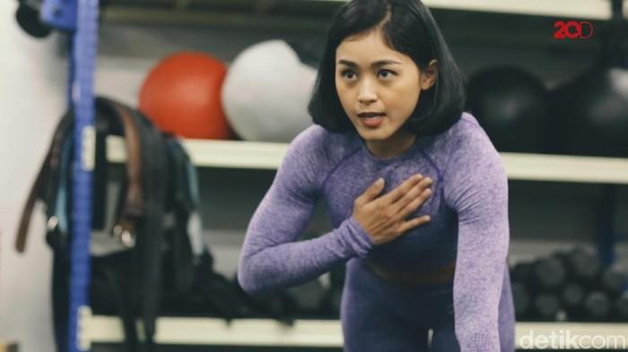 Bugar bareng Nadira Diva, instruktur kebugaran dari Crossfit 6221 (Foto: 20detik)