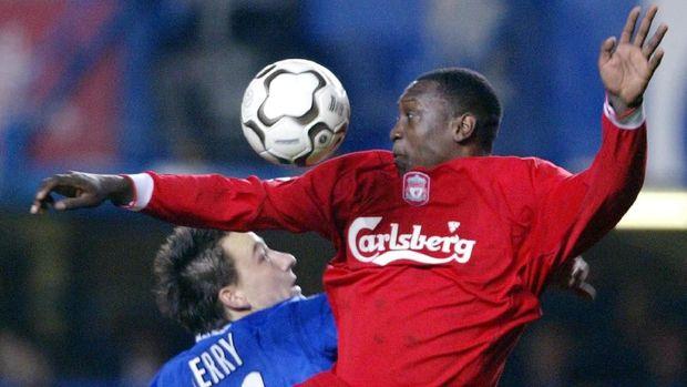 Emile Heskey pernah berseragam Liverpool saat masih menjadi pemain. (