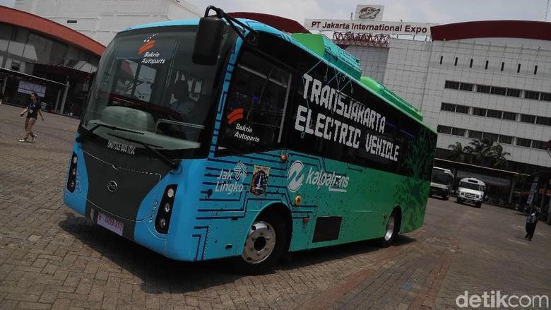 Bus listrik Transjakarta Foto: Pradita Utama
