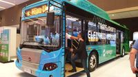 Bus listrik Transjakarta.