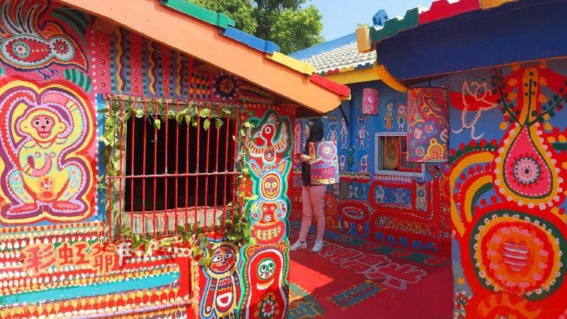 Rainbow Village berlokasi di Distrik Nantun, Taichung, Taiwan (Kurnia/detikcom)