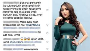 Komentar Lucu Netizen saat Lihat Video Lucinta Luna Jadi Pengantin