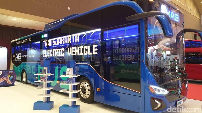 Bus Listrik untuk Armada Transjakarta. Foto: Luthfi Anshori