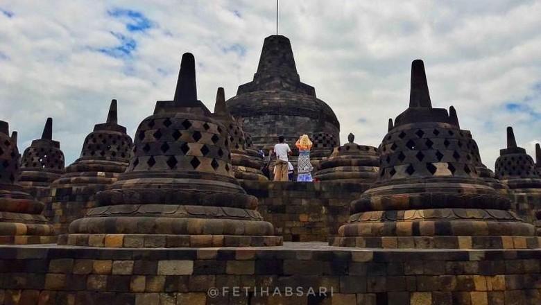 Ilustrasi Candi Borobudur (Feti Habsari/dTraveler)