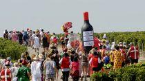 Serunya Lari Maraton Sambil Minum Wine dan Makan Keju