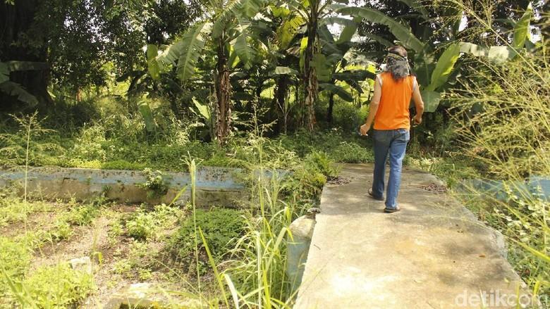 Sisa kolam renang di Kawasan Berglust di Cimahi (Yudha Maulana/detikcom)